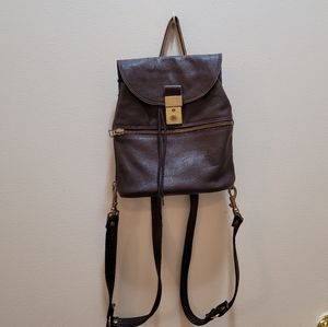 Leather tiny backpack